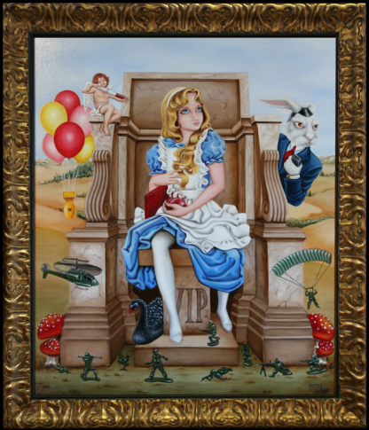 Michelangelo's Alice Oil Painting by Vivian Leila Campillo