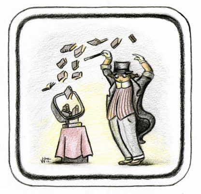 Magic-Online bookstore illustration by Vivian Leila Campillo