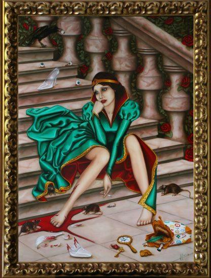 Thinkerella Oil Painting by Vivian Leila Campillo