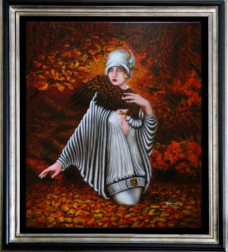 Fall Oil Painting by Vivian Leila Campillo