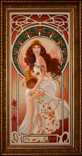 Art Nouveau portrait by Vivian Leila Campillo