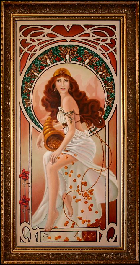 Art Nouveau portrait by Vivian Leila Campillo