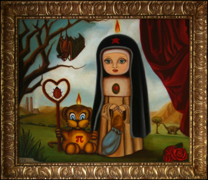 Religion, Politics, Science and Other Brushfire Tales Oil Painting by Vivian Campillo