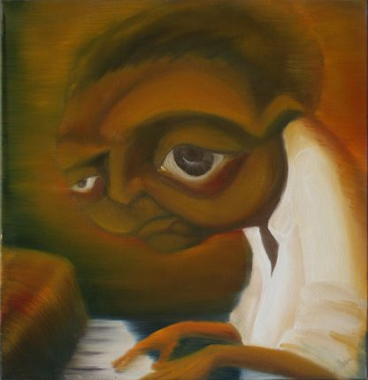 Piano man Oil Painting by Vivian Leila Campillo