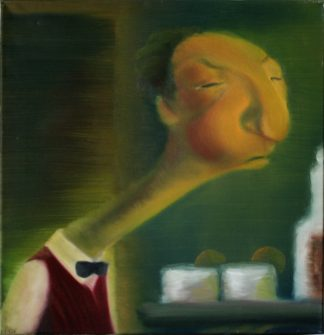 Bar man Oil Painting by Vivian Leila Campillo