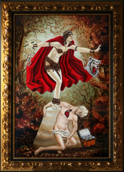 The Little Red Chryselephantine Oil painting by Vivian Leila Campillo