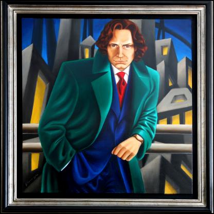 Art Deco portrait - Richard - by Vivian Leila Campillo
