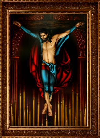 Superman Crucified Oil Painting by Vivian Campillo