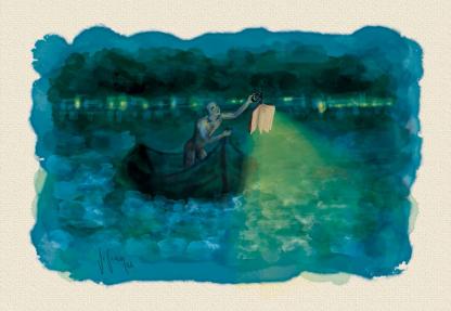 A Guiding Light Illustration by Vivian Leila Campillo