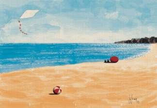 Beach Day Illustration by Vivian Leila Campillo