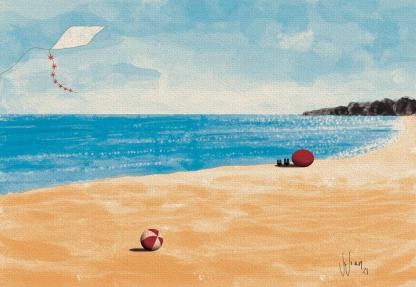 Beach Day Illustration by Vivian Leila Campillo