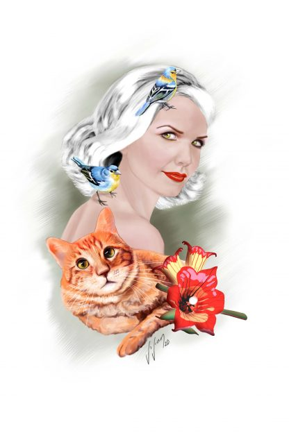 Digital portrait by Vivian Leila Campillo